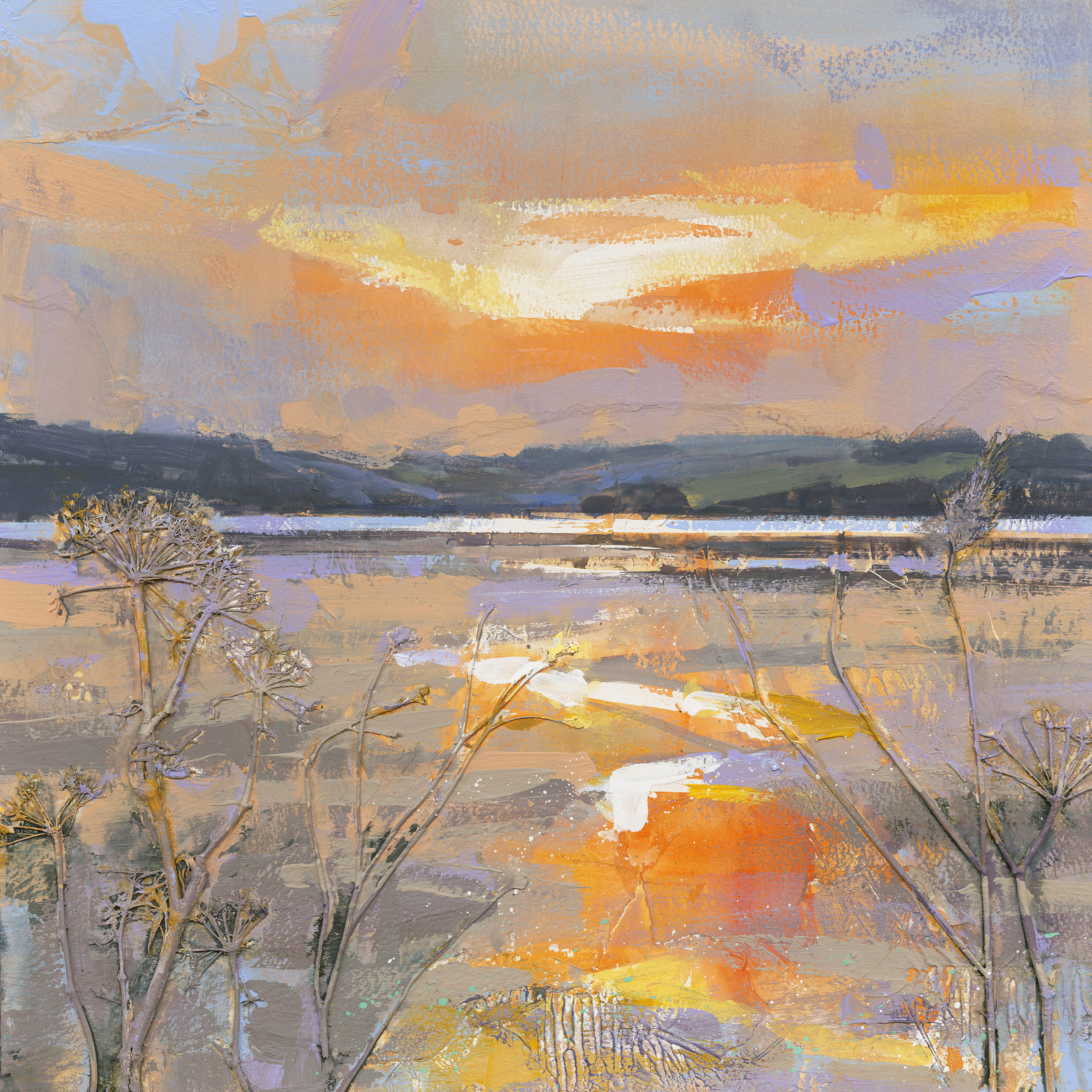 3. ray balkwill  swac  golden light on the exe  mixed media