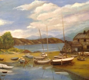 Francetta bridle. boats at rest