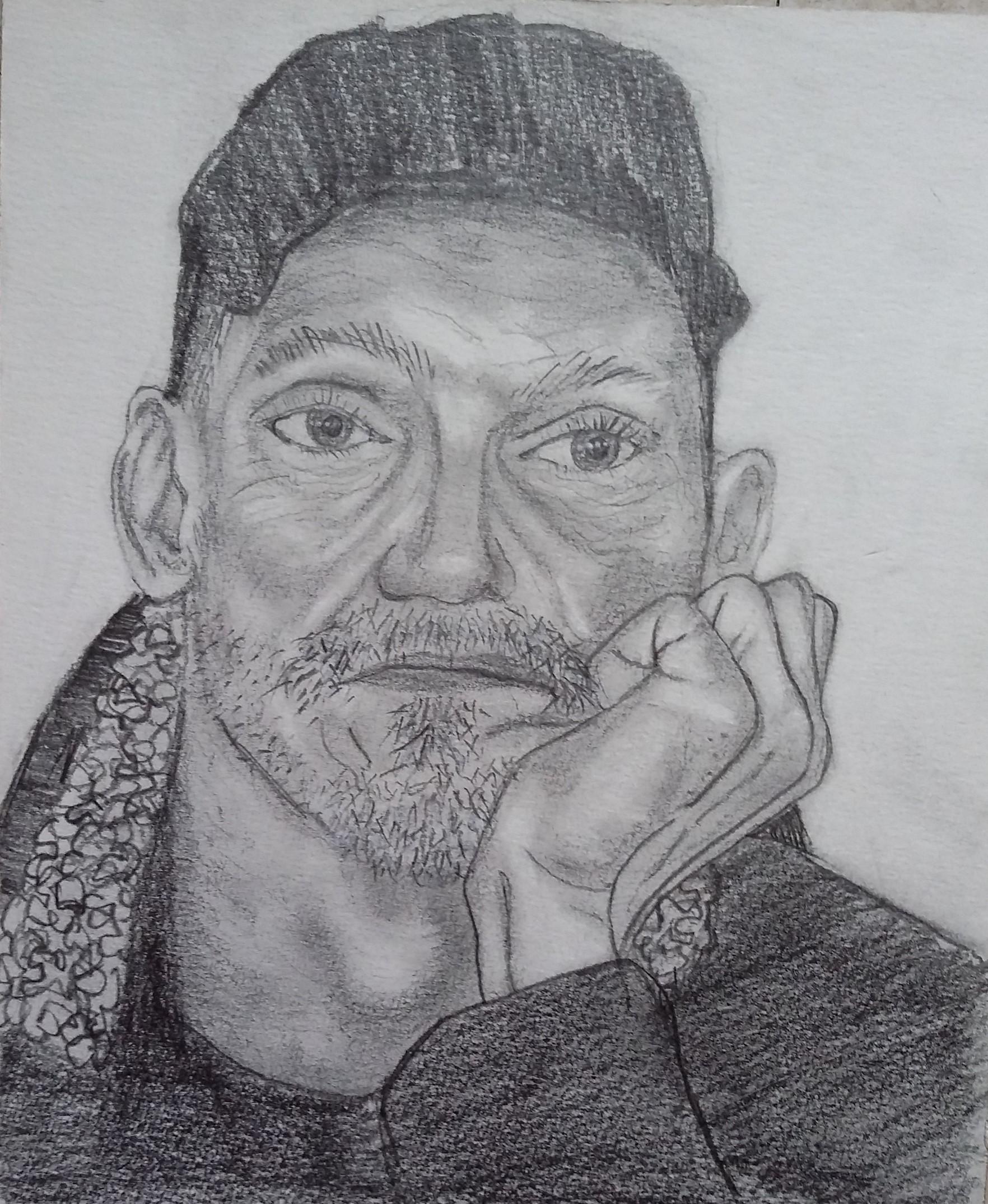 Coats   pencil portrait