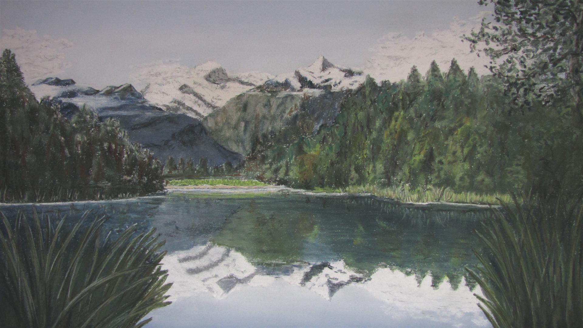Mt cook new zealand  pastel